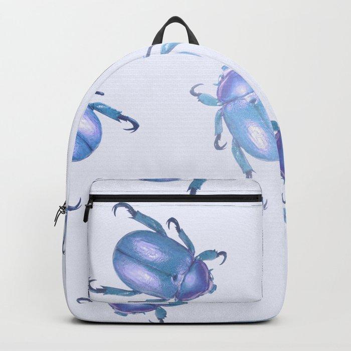 lavender blue scarab pattern Backpack