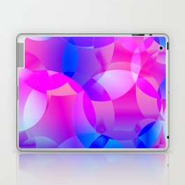 Violet and blue soap bubbles. Laptop & iPad Skin