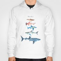 sharks Hoodies featuring Sharks by Amee Cherie Piek