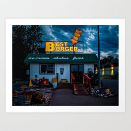 Best Burger Art Print