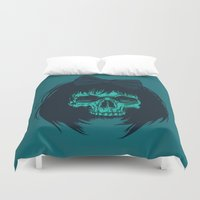bow Duvet Covers featuring Hair bow by Roland Banrevi