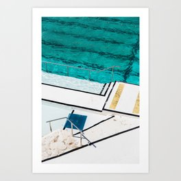 Bondi Icebergs Club III Nautical Geometry Art Print