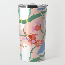 Kookaburra Birds + Little Kurrajong Flowers Travel Mug