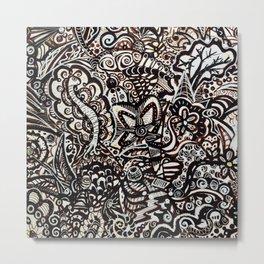 Doodle Worm Metal Print