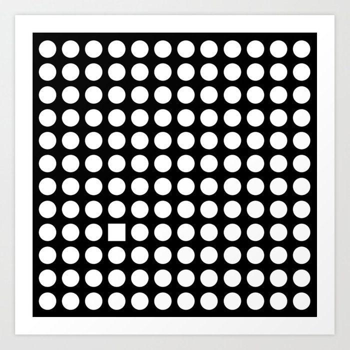 Too many squares to count Art Print