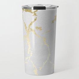 Kintsugi Ceramic Gold on Lunar Gray Travel Mug