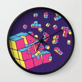 Rubixplosion II Wall Clock