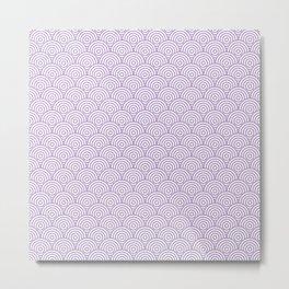 Lavender Concentric Circle Pattern Metal Print