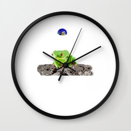 Luna Leaper Wall Clock