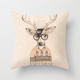 Deerest hipster Throw Pillow