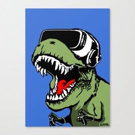 VR T-rex Canvas Print