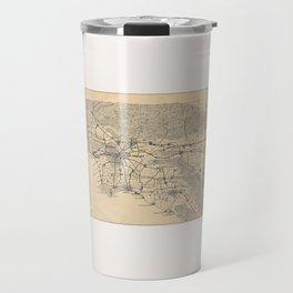 Vintage 1915 Los Angeles Area Map Travel Mug