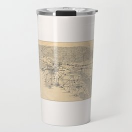 Vintage 1915 Los Angeles Area Map Travel Mug