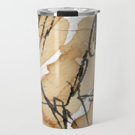 Abstract coffee stain and marker lines Travel Mug
