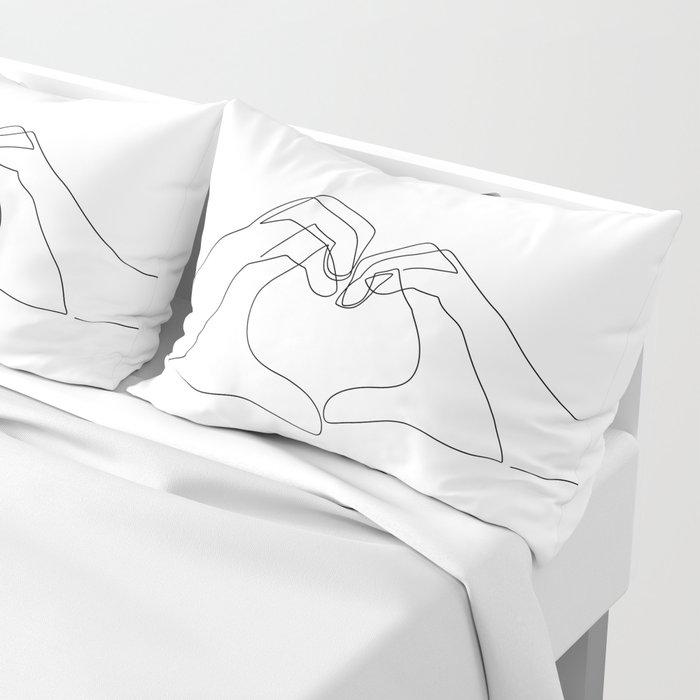 Hand Heart Kissenbezug