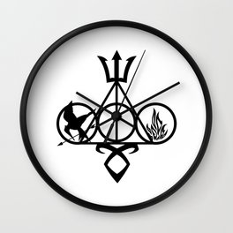 symbol harrys potter and Catching fire Wall Clock