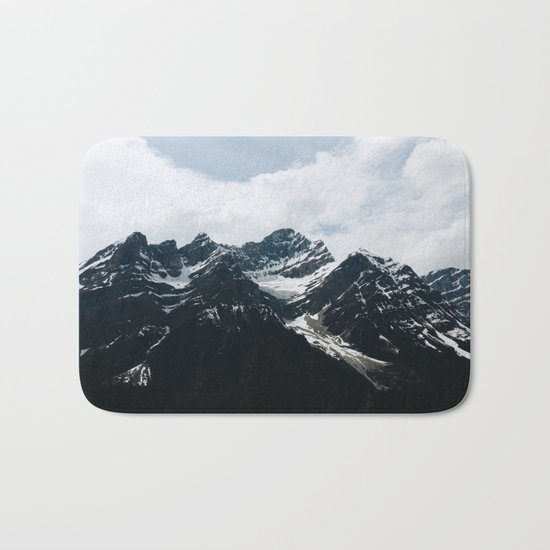 Mountains In Icefield Parkway Bath Mat