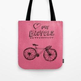 Love my Bicycle Tote Bag