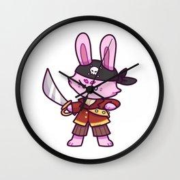 Rabbit pirate Captain Treasure saber Children Gift Wall Clock