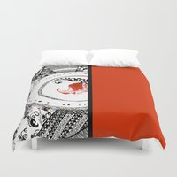ukraine Duvet Covers featuring Mood of Ukraine by rusanovska