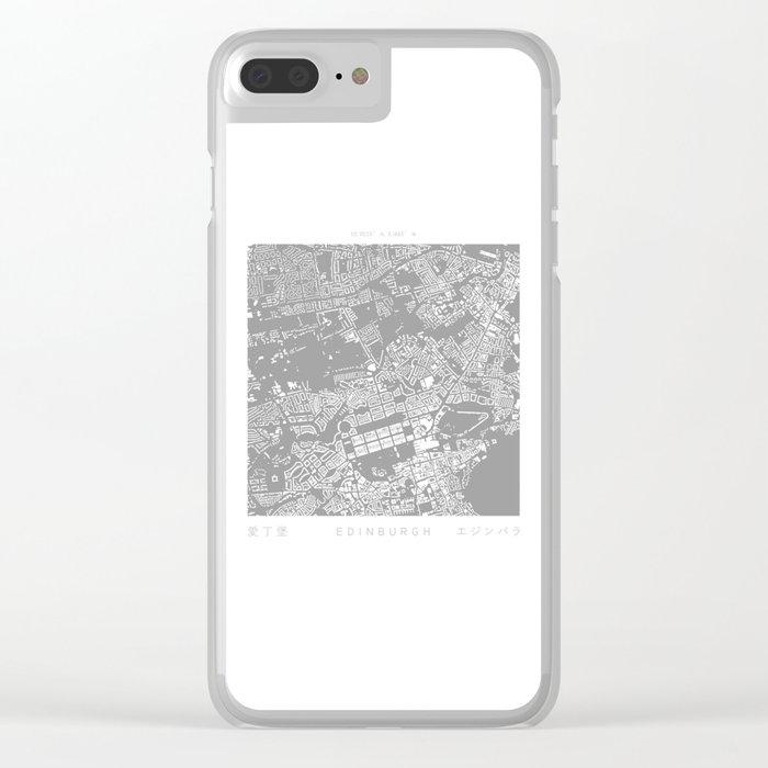 Edinburgh Figure Ground Clear iPhone Case
