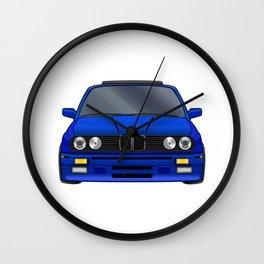 M3 E30 Blue Wall Clock