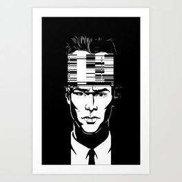 mnemonic_data_glitch_ Art Print