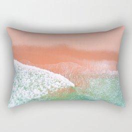 Pink Beach Rectangular Pillow
