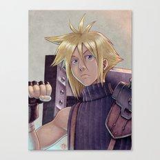 Final Fantasy - Cloud Strife Tribute Canvas Print