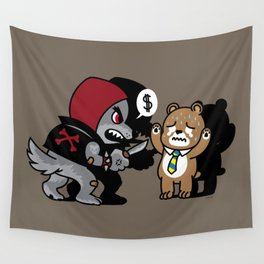 Animal Robbery Wall Tapestry