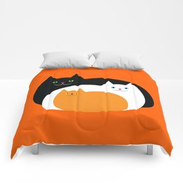 Halloween Cat Family Comforters