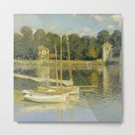 "Claude Monet ""The Argenteuil Bridge"" Metal Print"