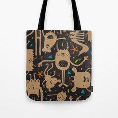 Topsy Turvy - Dark Tote Bag
