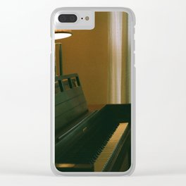 Living Room Piano Clear iPhone Case