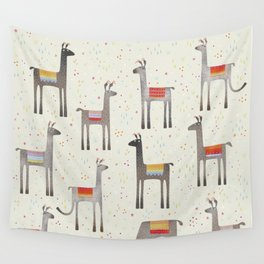 Llamas in the Meadow Wall Tapestry