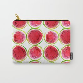 Watercolor watermelon fruit illustration Carry-All Pouch