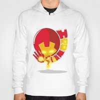 ironman Hoodies featuring Ironman by Seez