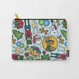 Crazy Christmas Carry-All Pouch