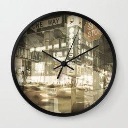 One Way Stop Wall Clock