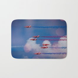 Red Arrows In The Sky Bath Mat