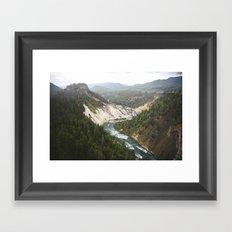 Carved River Framed Art Print