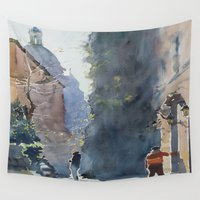 rome Wall Tapestries featuring Rome by Andrey Esionov