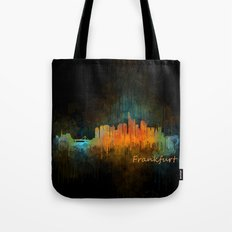 Frankfurt am Main, City Cityscape Skyline watercolor art v4 Tote Bag