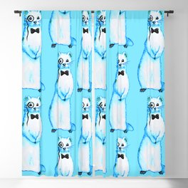 Funny Ferret Hipster Blackout Curtain