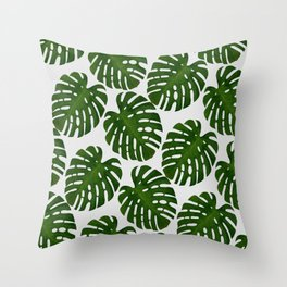 Monstera Leaf II Throw Pillow