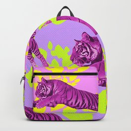 Jumping Neon Tigers Backpack