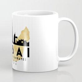 DUBAI UNITED ARAB EMIRATES SILHOUETTE SKYLINE MAP ART Coffee Mug
