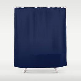Navy Blue Minimalist Shower Curtain