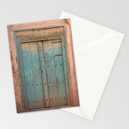 Arabic Old Wooden Door - Oman  Stationery Cards