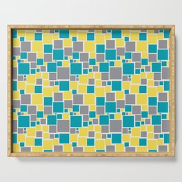 Funky Mosaic Pattern V5 Pantone 2021 Colors of the Year and Accent Hues Serving Tray